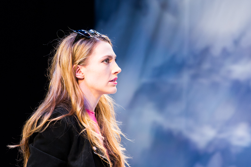 Amanda Forstrom in Scena Theatre's production of 'Antigone Now.'