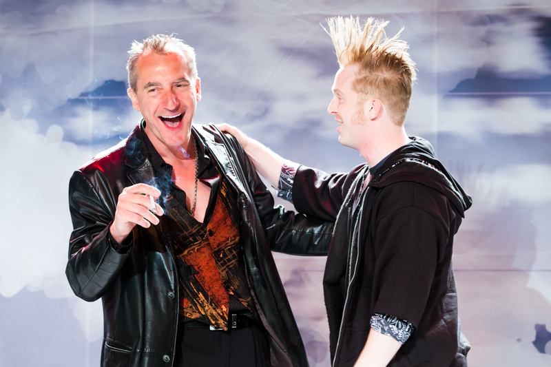 Stas Wronka and Bob Sheire in Scena Theatre's production of 'Antigone Now.'