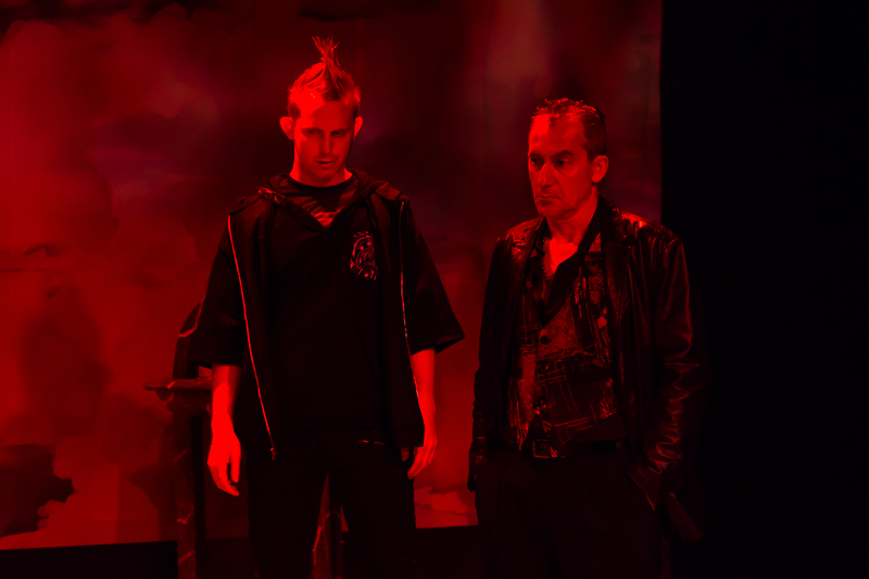 Bob Sheire and Stas Wronka in Scena Theatre's production of 'Antigone Now.'
