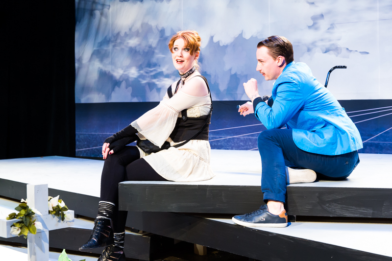 Danielle Davy and Joseph Carlson in Scena Theatre's production of 'Antigone Now.'