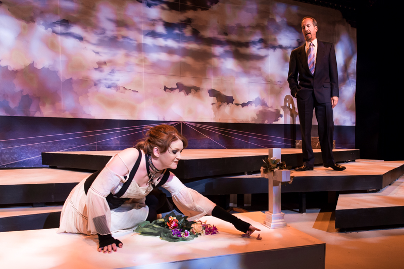 Danielle Davy and Ron Litman in Scena Theatre's production of 'Antigone Now.'
